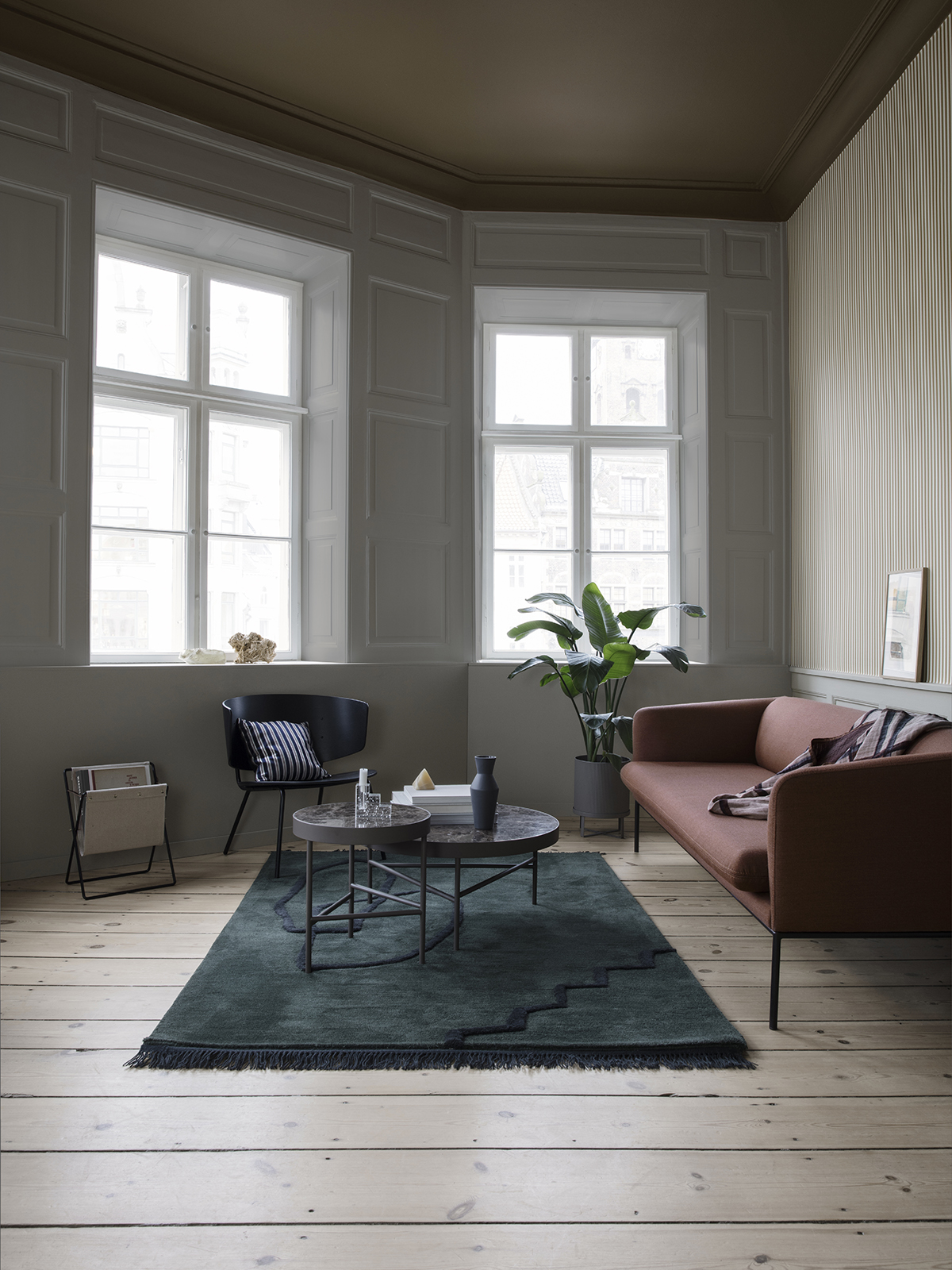 9. - Desert Tufted RugThe organic motif, fringe details and rich colour options make this Desert Tufted Rug from Ferm Living a great option if you are looking for a simple contemporary rug. It makes a strong statement without overpowering the other pieces in the room.Connox - £441
