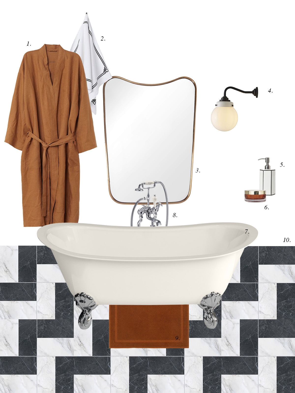 Burlington Medici ivory roll top bath.jpg