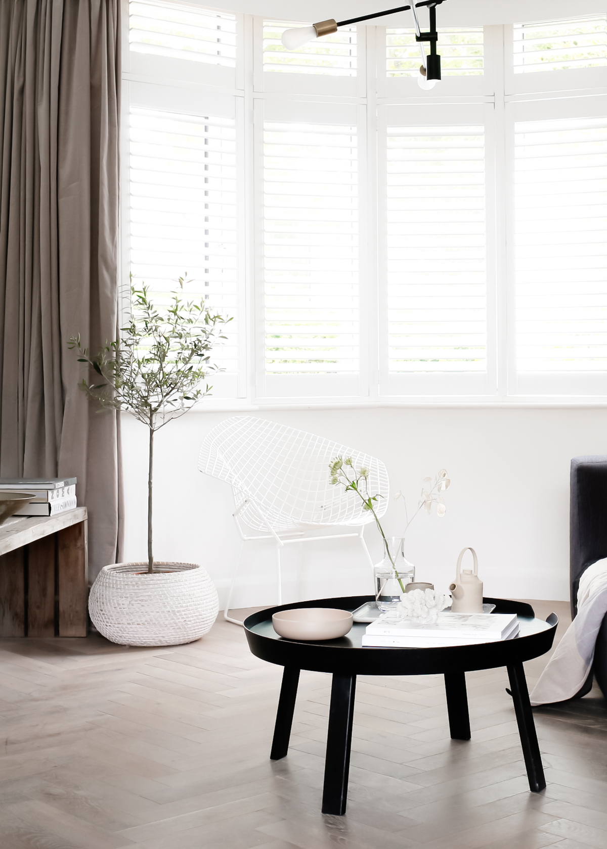 Shutters by Apollo Blinds in bay window - Design Hunter living room-1-7.jpg