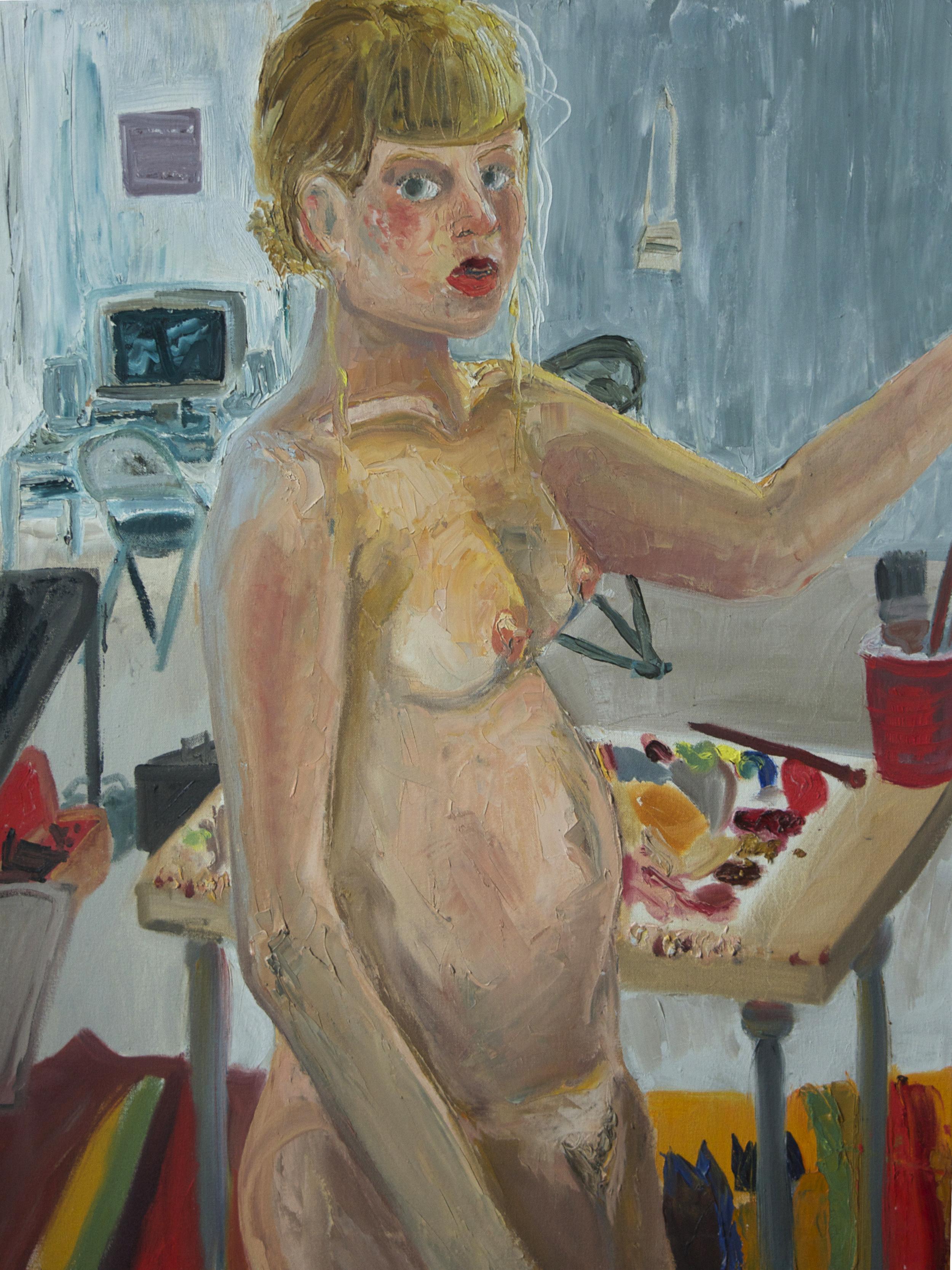 Self Portrait (Naked). Oil. 2014