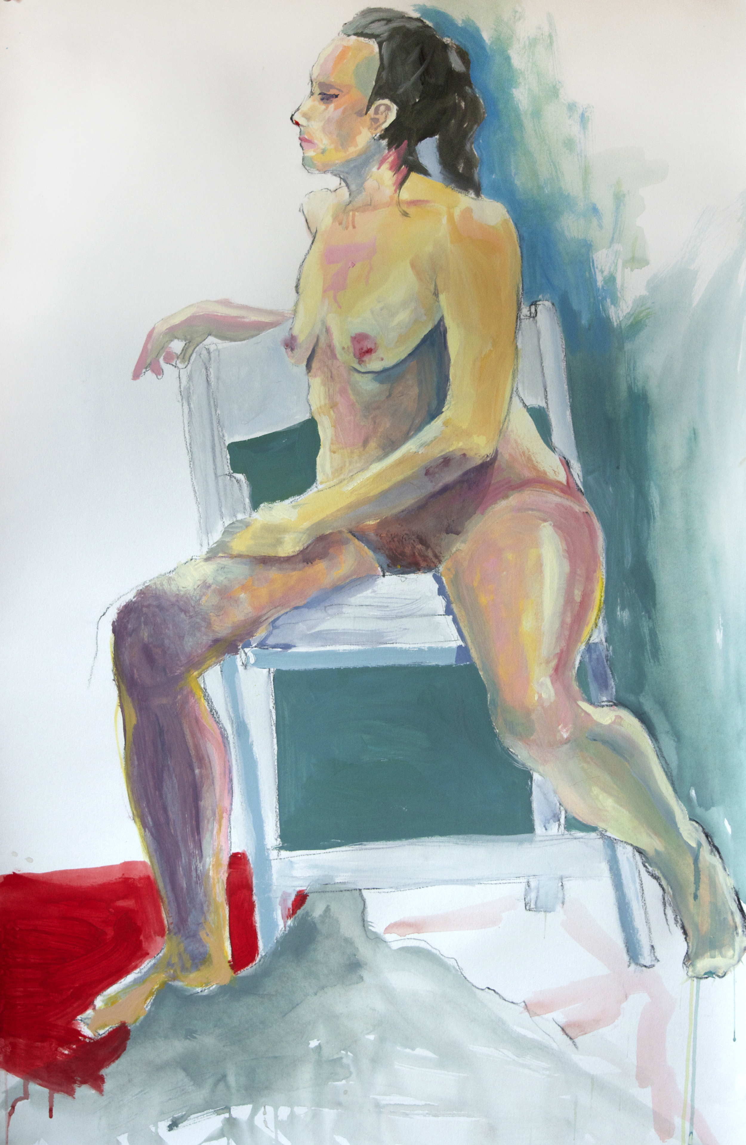 Nude and Chair. Mixed Media. 2015
