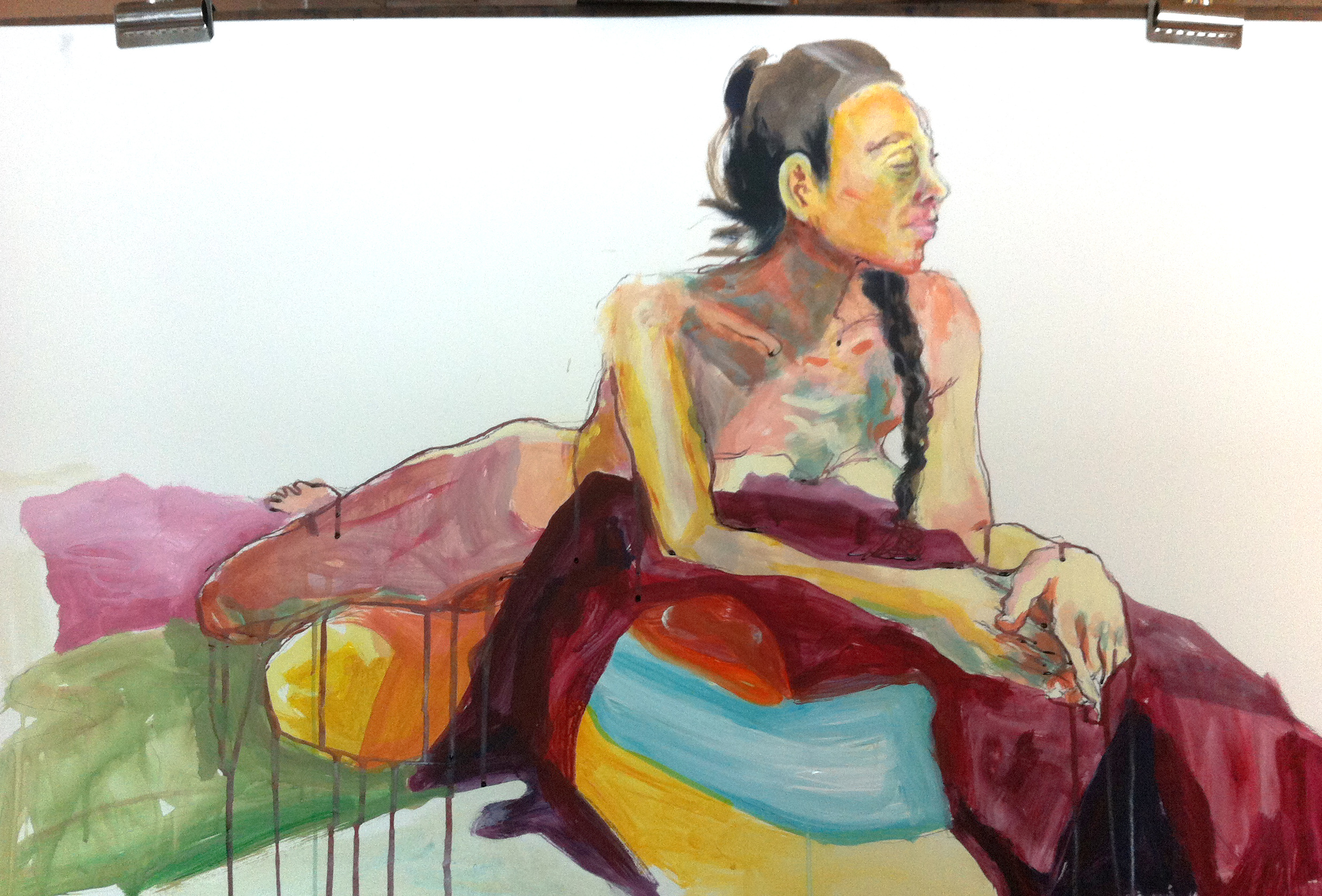 Nude and Blankets. Mixed Media. 2015