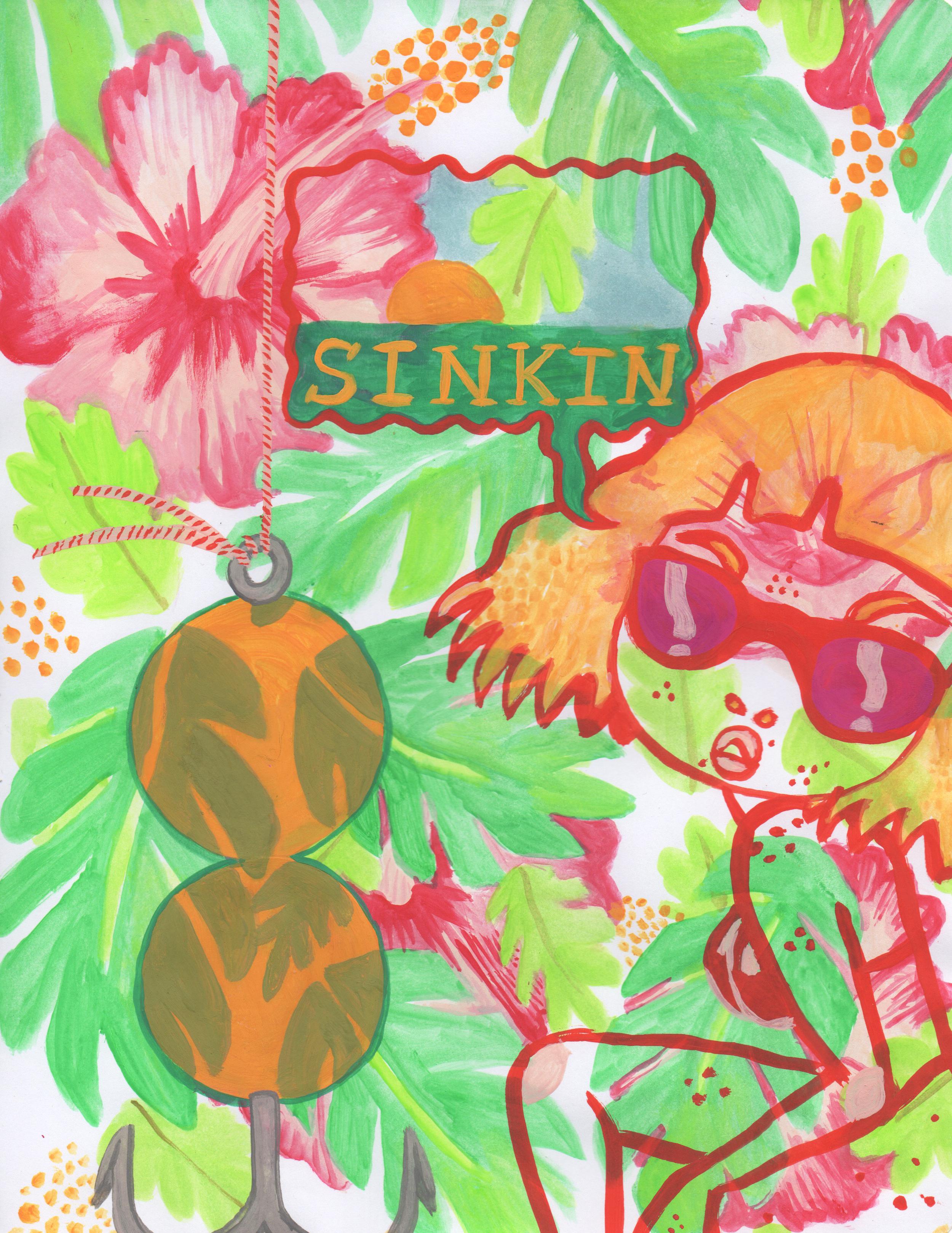 SINKIN. Watercolor. 2016