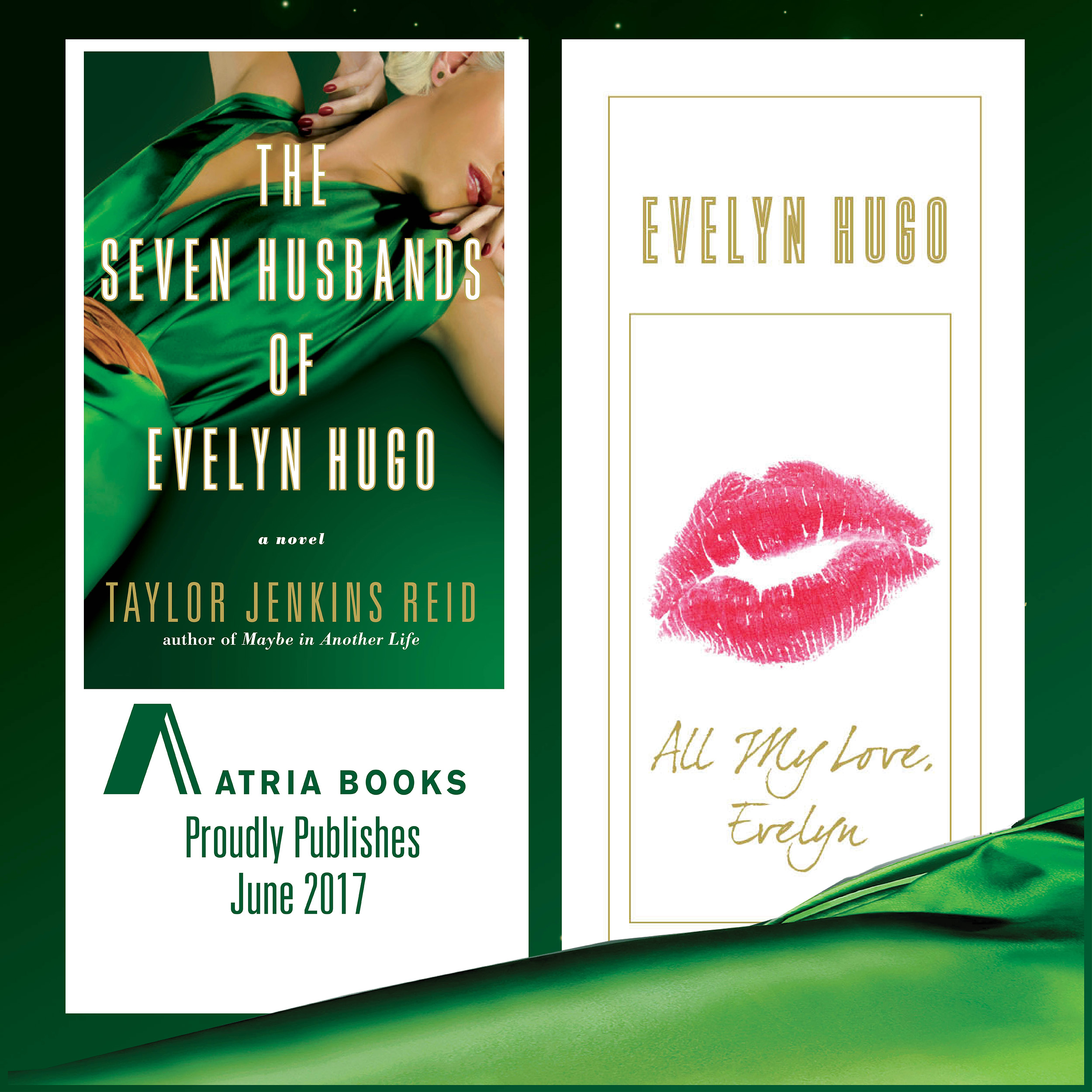 The Seven Husbands of Evelyn Hugo - creative director, art director and designer for galley packaging, print and digital
