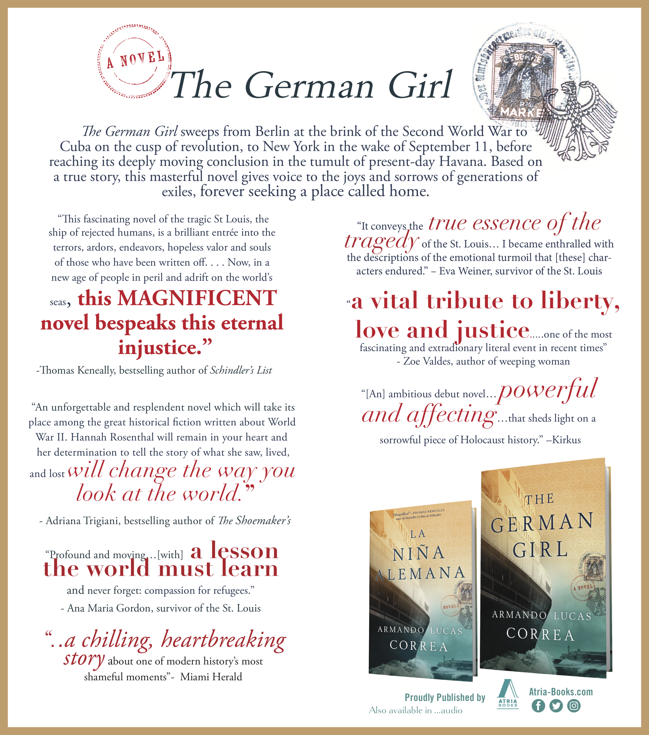 German Girl  protest advertisement in  the New York Times  .