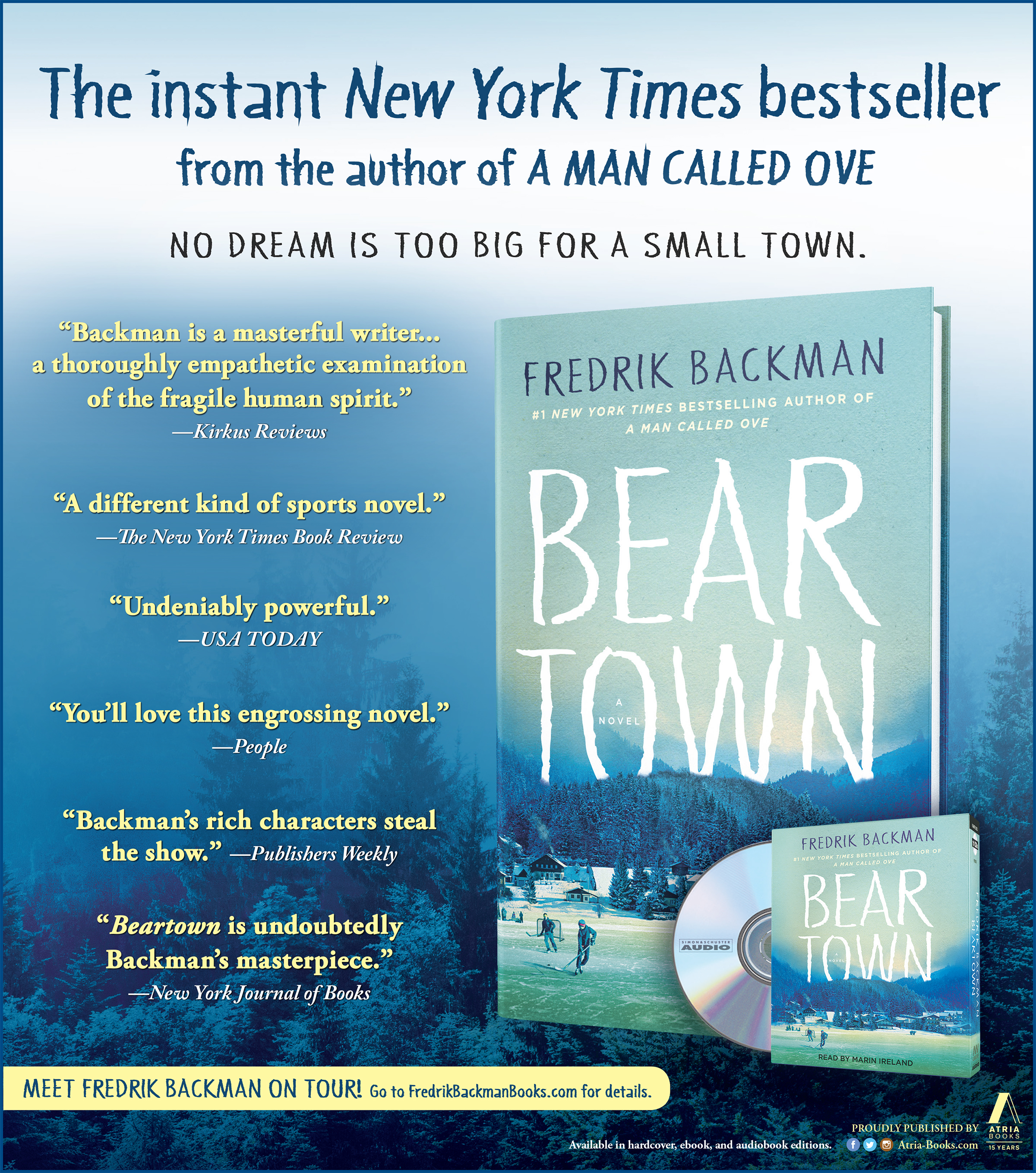 Beartown Advertisement for the New York Times Book Review