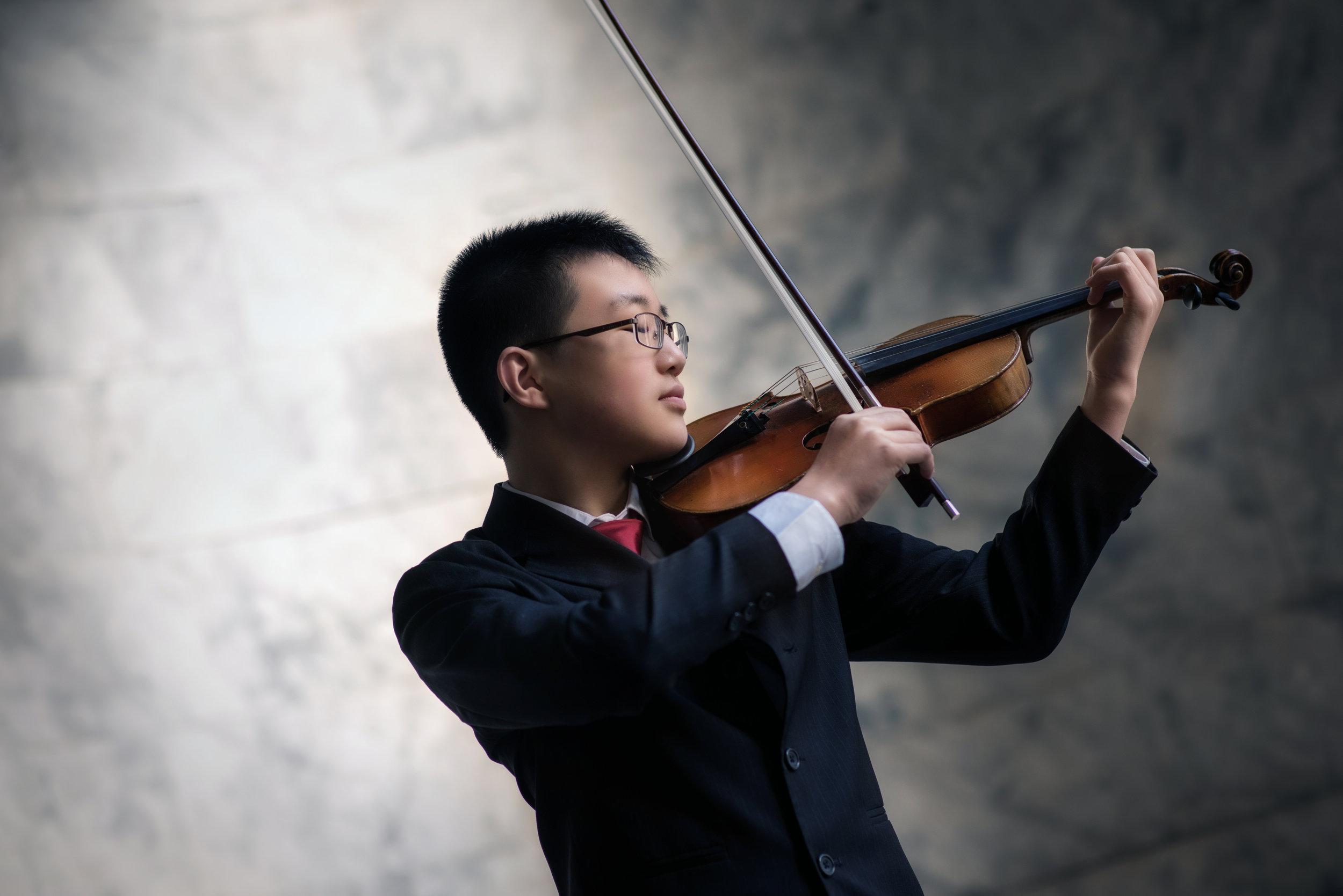 Pierce Wang, violin