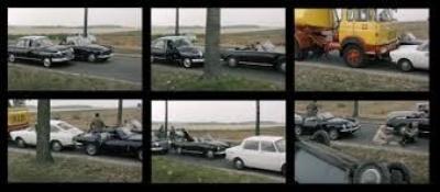 "Jean Luc Goddard, film still from ""Weekend"""