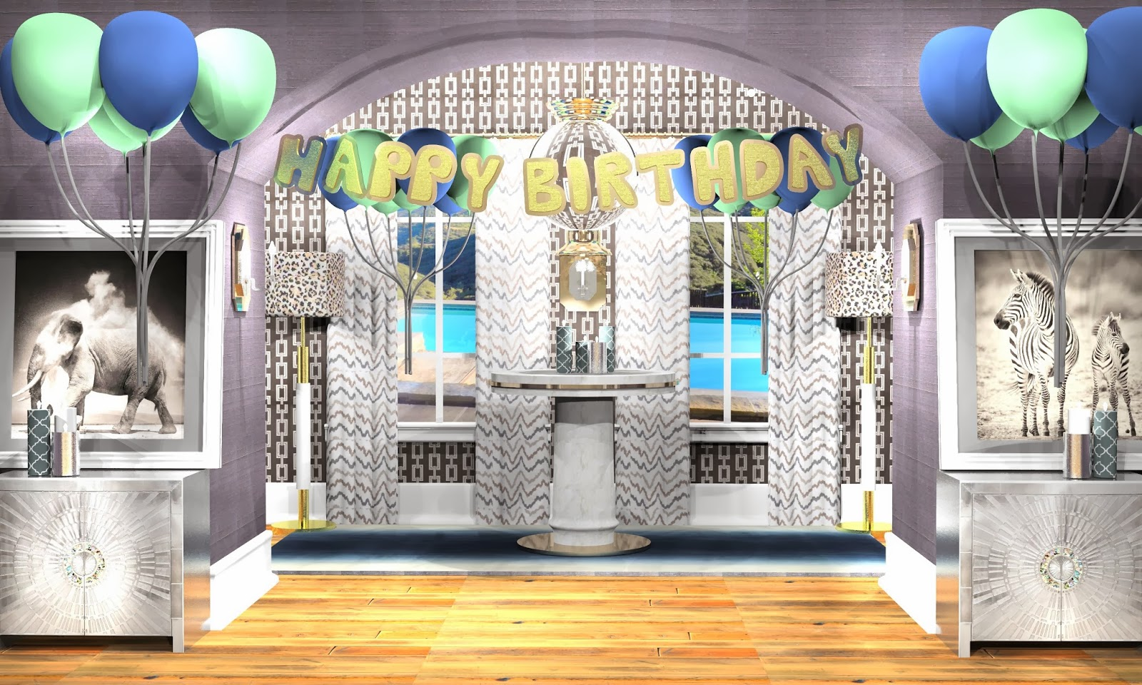 Happy Birthday Rendering
