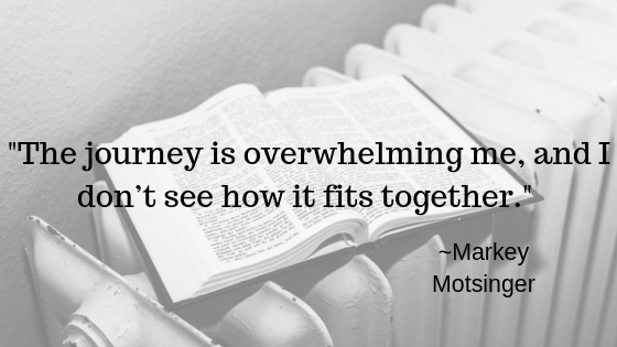The journey is overwhelming me, and I don't see how it fits together| Markey Motsinger