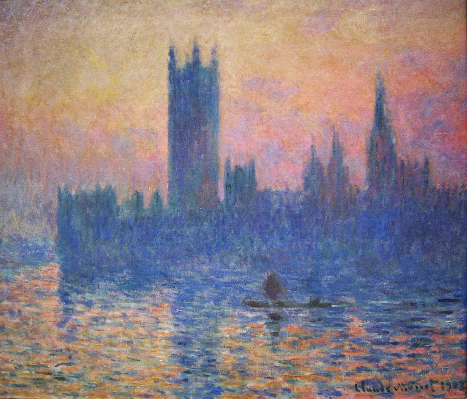 The Houses of Parliament,  Sunset , 1903,  National Gallery of Art  Washington, DC.
