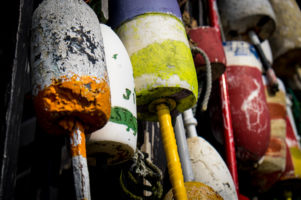 Lobster buoys - Porpoise Cove, Maine