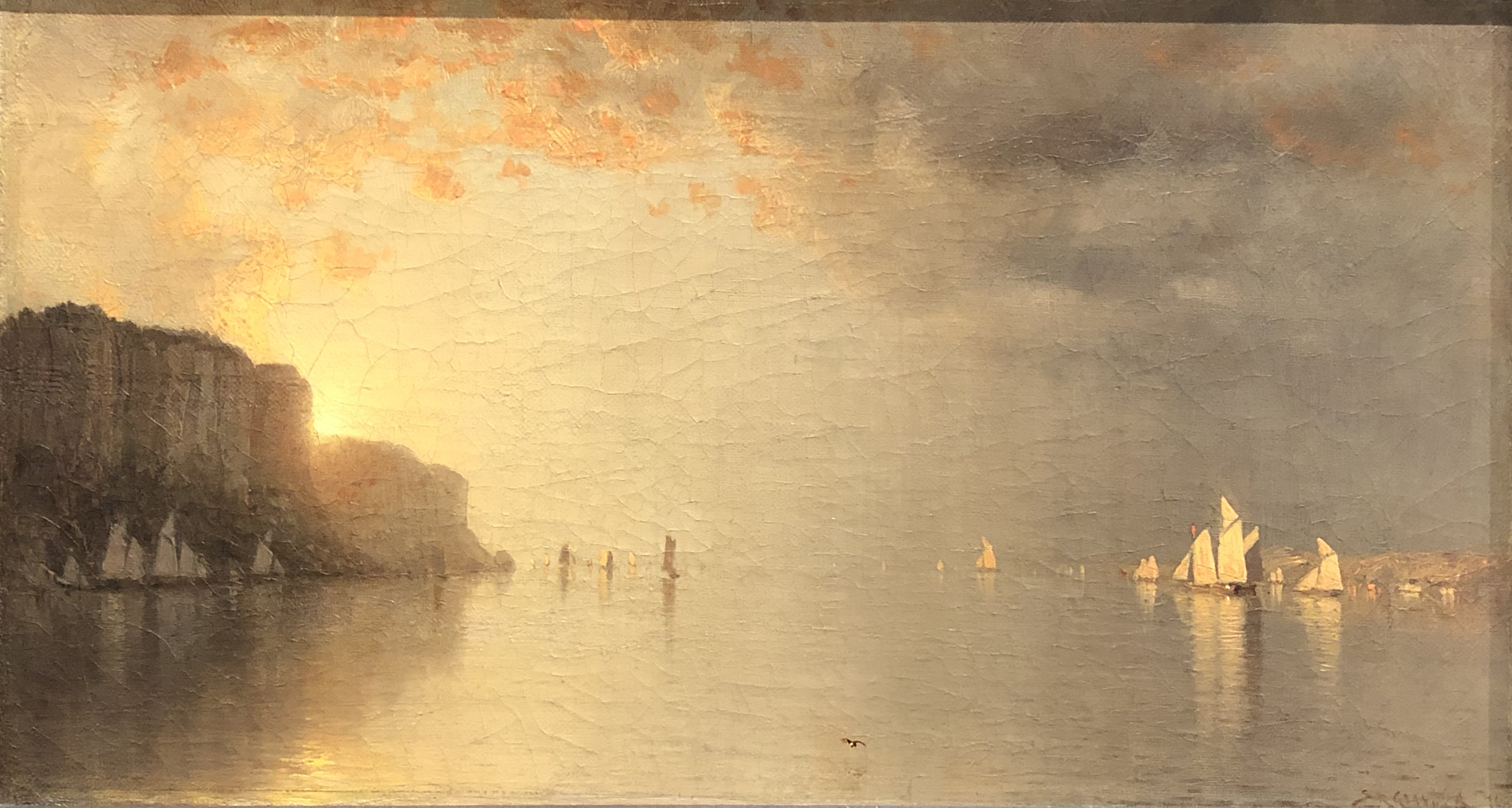Sunset on the Hudson, Sanford R. Gifford