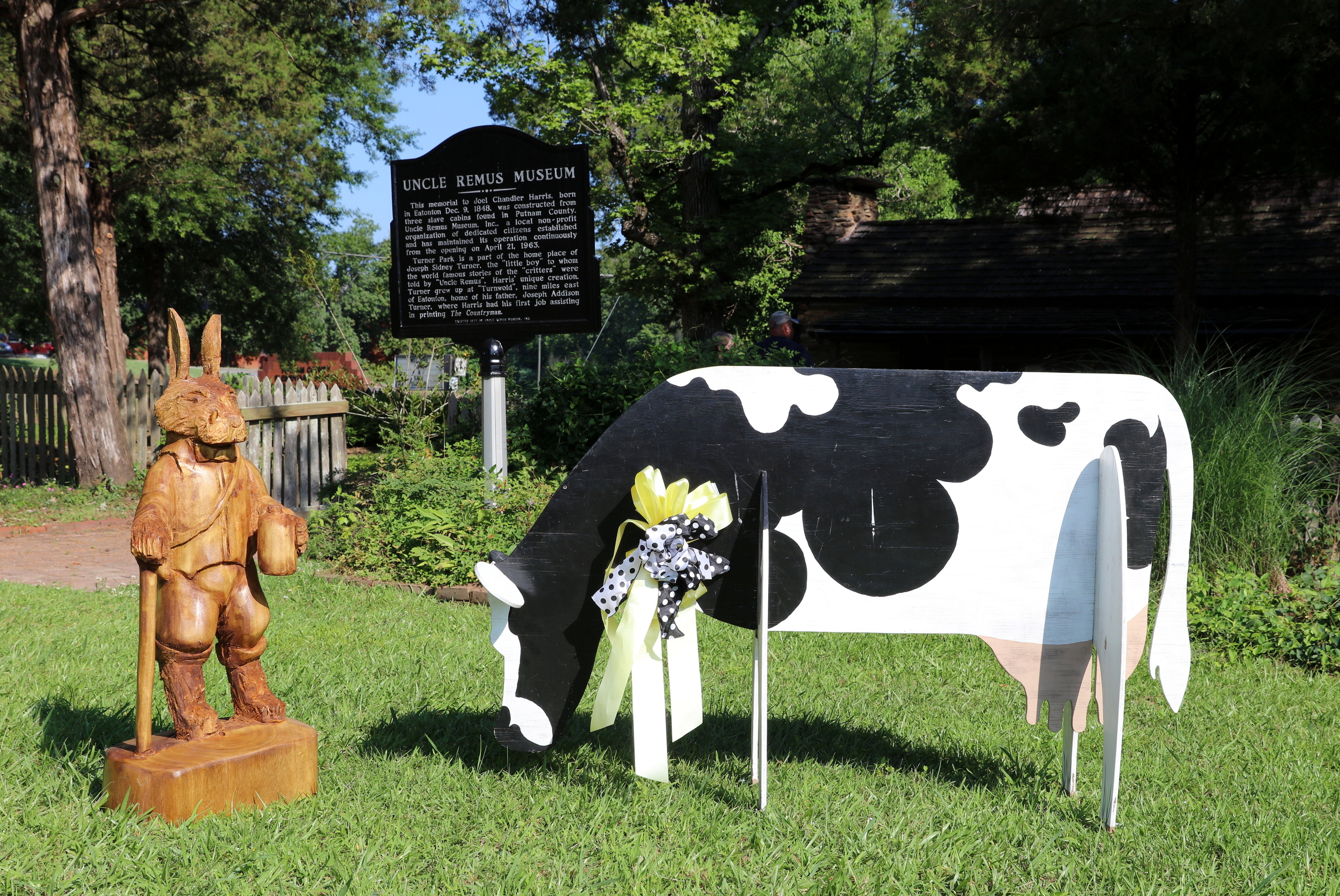 Brer Rabbit and Sis Cow   celebrate the Dairy Festival and thank the Pilot Club!