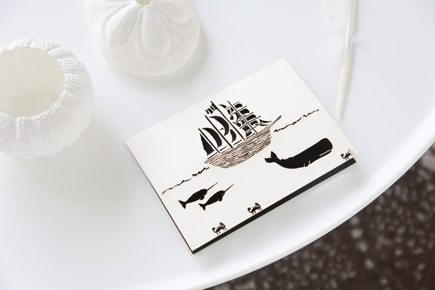 high seas laser cut paper stationery