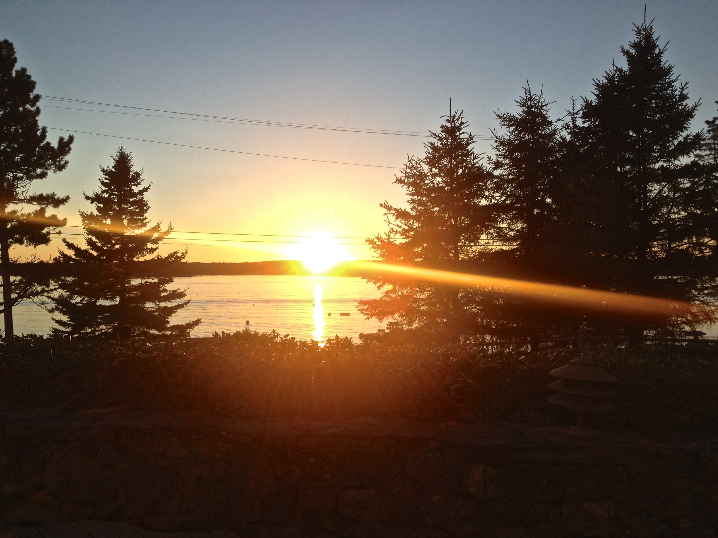 Sunset at Spruce Point Inn