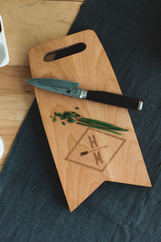 AHeirloom Custom Wedding cutting board