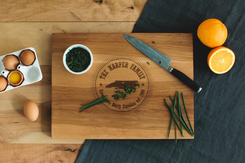 AHeirloom cutting board