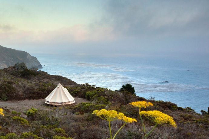 Sibley Tent at Treebones Resort in Big Sur, California