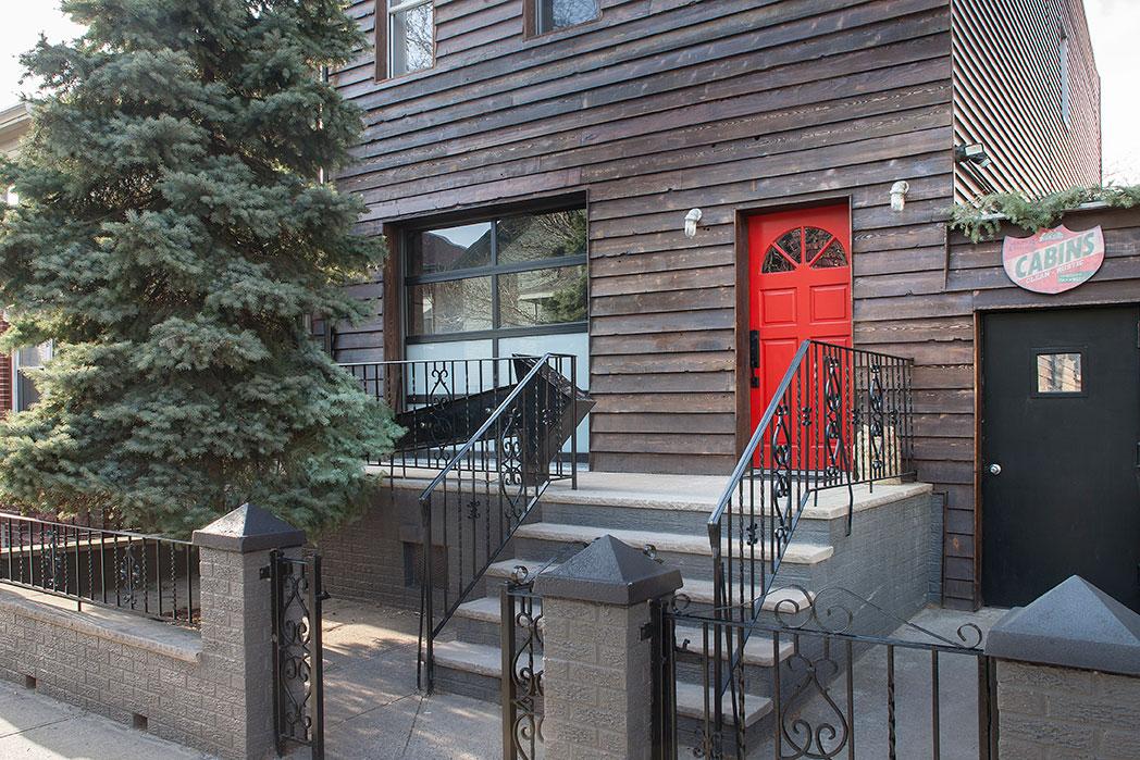 The entrance to Urban Cowboy B&B in Williamsburg, Brooklyn