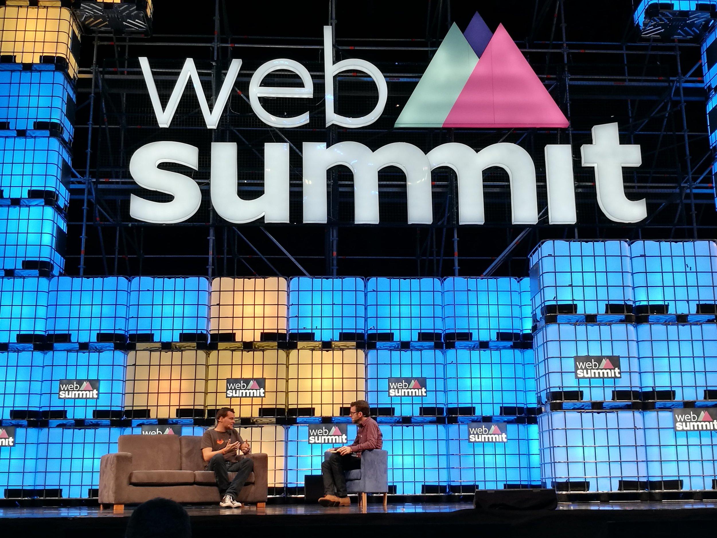 Palco principal da Websummit 2016