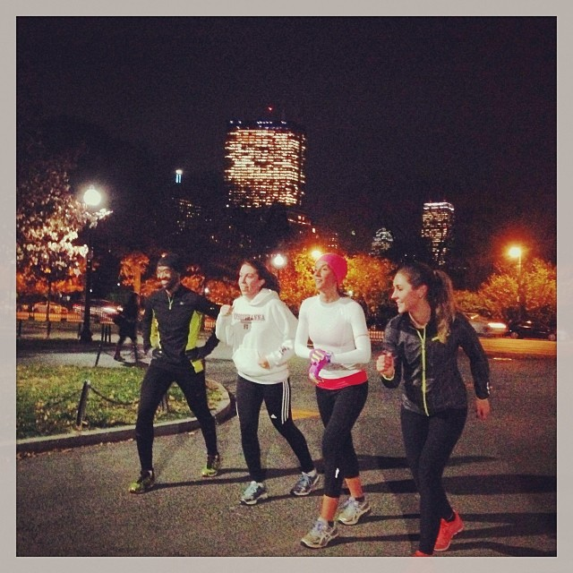 SBR Athletes running weekly Hill Repeats in a cold Boston winter