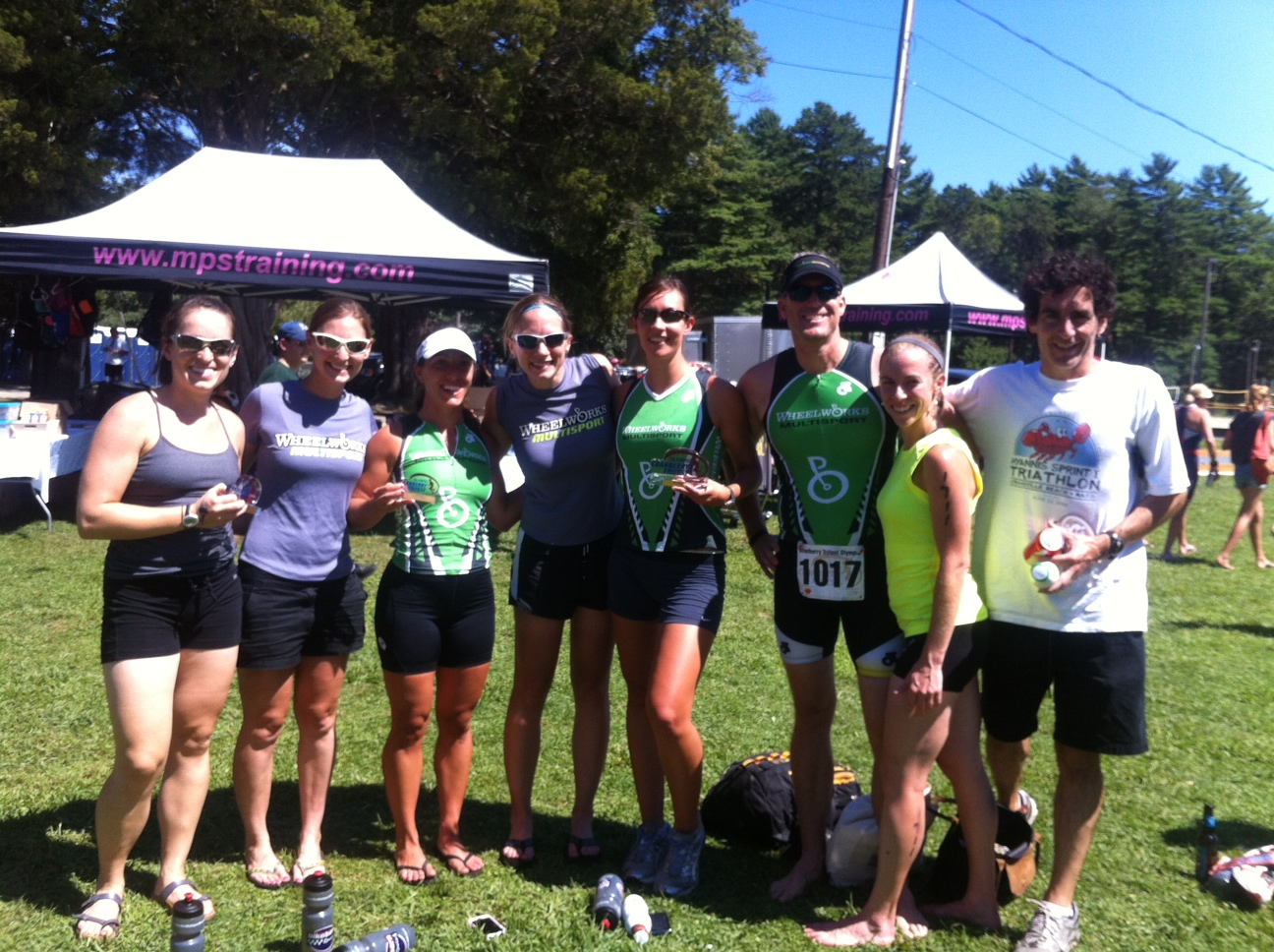 Celebrating victories at the Cranberry Triathlon in MA