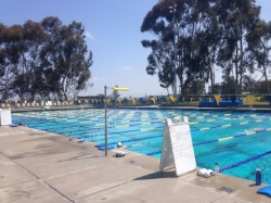one of the ucsd masters workouts at canyonview aquatic center