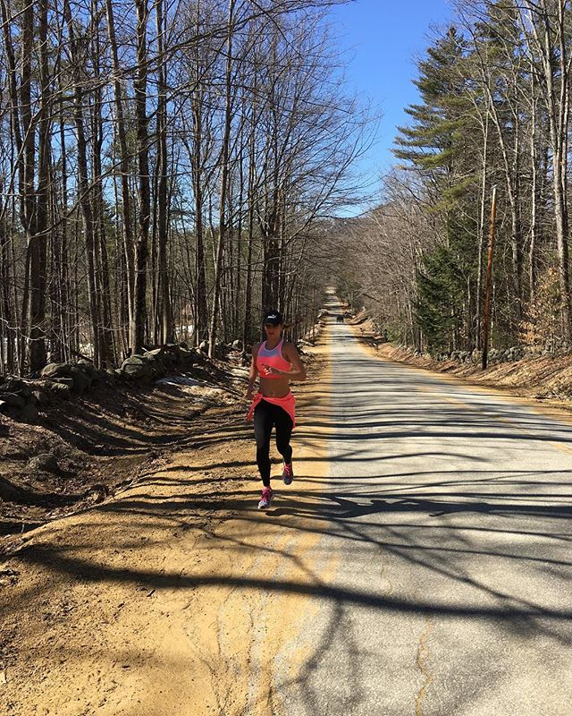 Run to explore. Winter is ALMOST over!!! #newhampshire #loverunning #runtoexplore