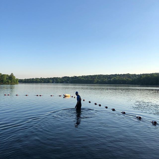 Is it too cold for a dip at Mystic Lake? You decide... #openwater #icemelting #swimming