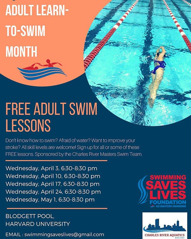 Swimming Saves Lives is back!! Join us in April! #swimmingsaveslives #harvard #swimming