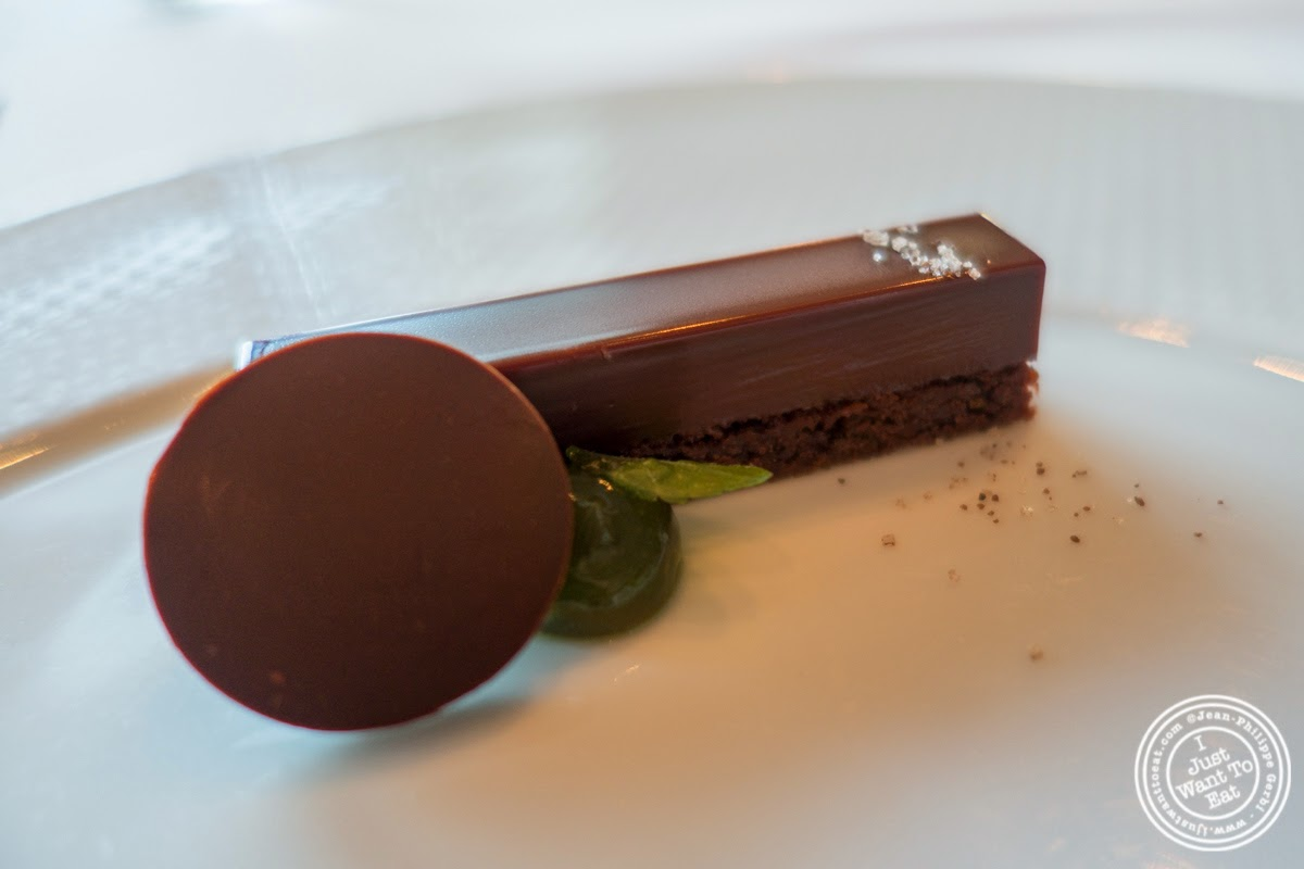 chocolate mint made with a Valrhona chocolate ganache at Per Se in New York, NY