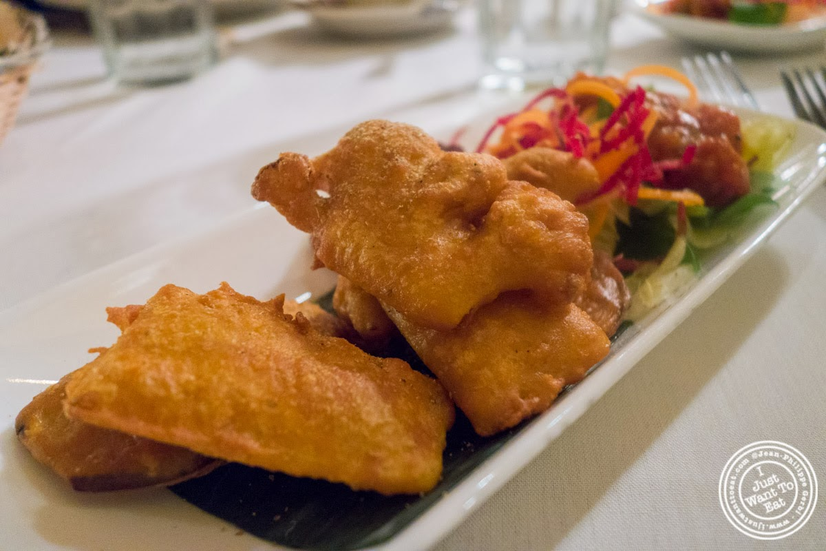 vegetarian pakora at Brick Lane Curry House in the East Village, NYC, New York