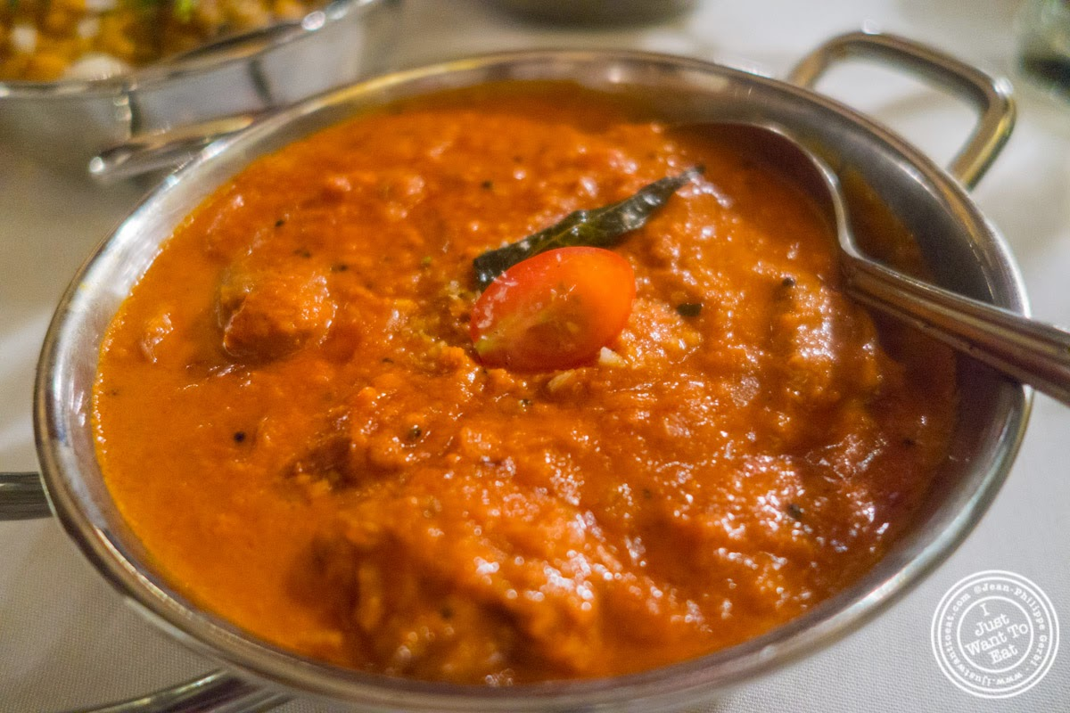lamb madras curry at Brick Lane Curry House in the East Village, NYC, New York
