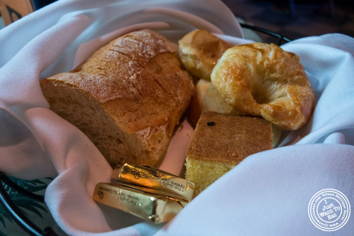 bread basket at Sounds Of Brazil SOB's in NY, New York