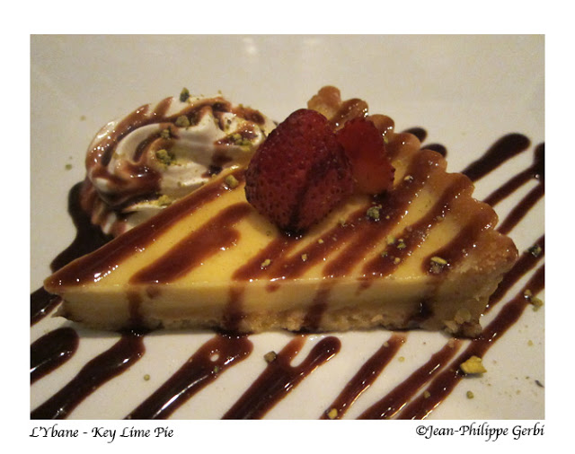 Key Lime pie at L'Ybane in NYC, New York