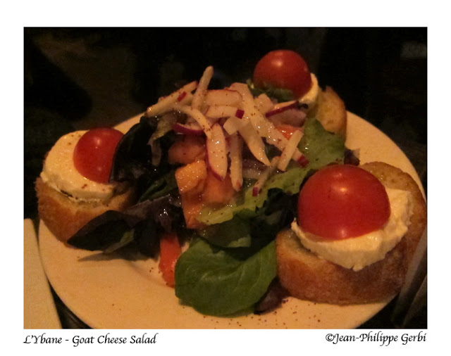 Goat cheese salad at L'Ybane in NYC, New York