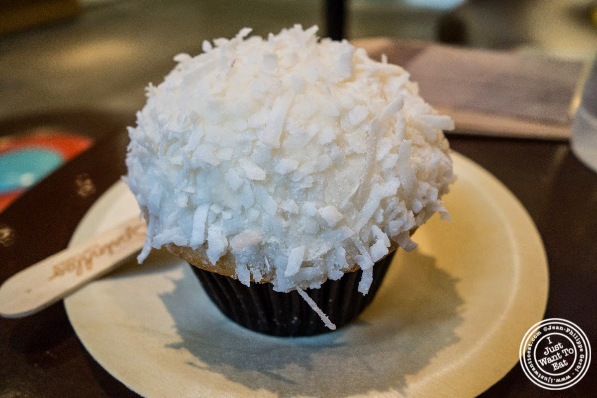 Coconut cupcake at Sprinkles Cupcakes in New York, NY