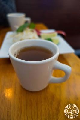 green tea at Pho Nomenon in Hoboken, NJ