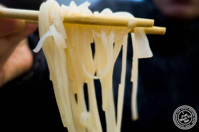 Noodles in Vietnamese soup at Pho Nomenon in Hoboken, NJ