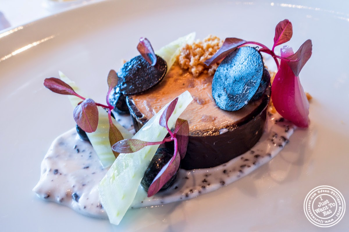 Hudson Valley Moulard duck foie gras at Per Se in New York, NY