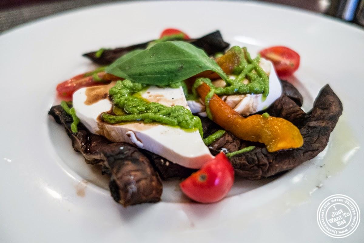 portobello mushrooms and mozzarella at Paname, French restaurant in New York, NY