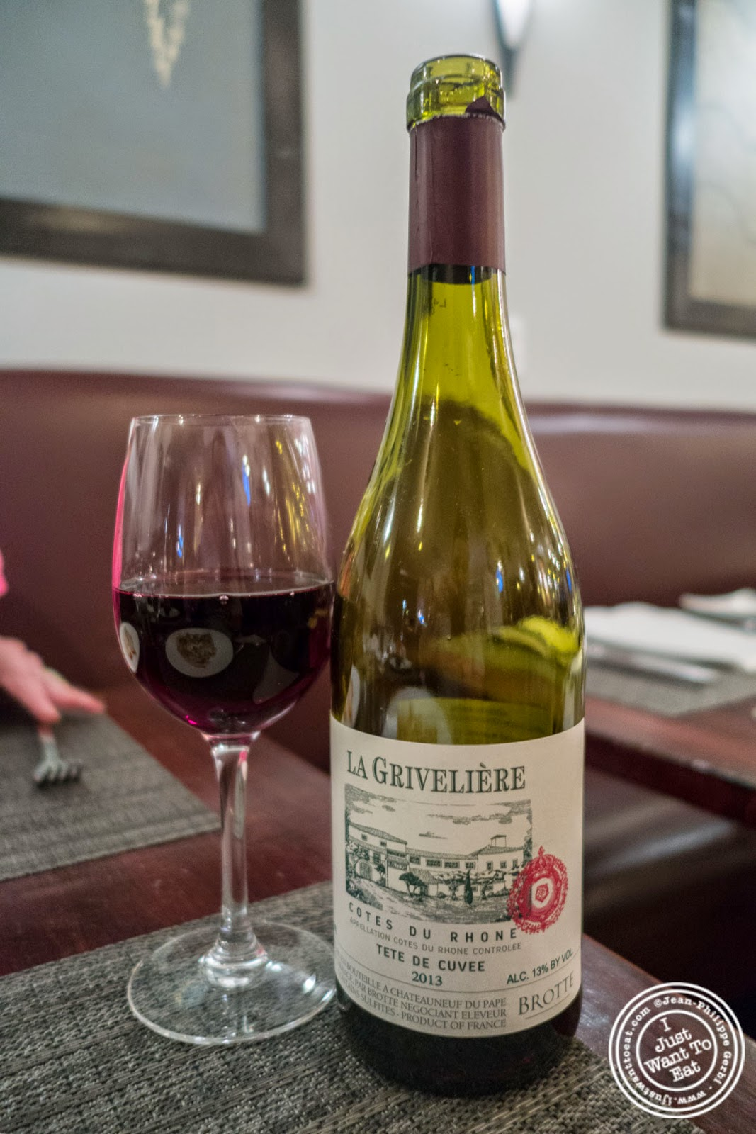 Cotes du Rhone at Paname, French restaurant in New York, NY