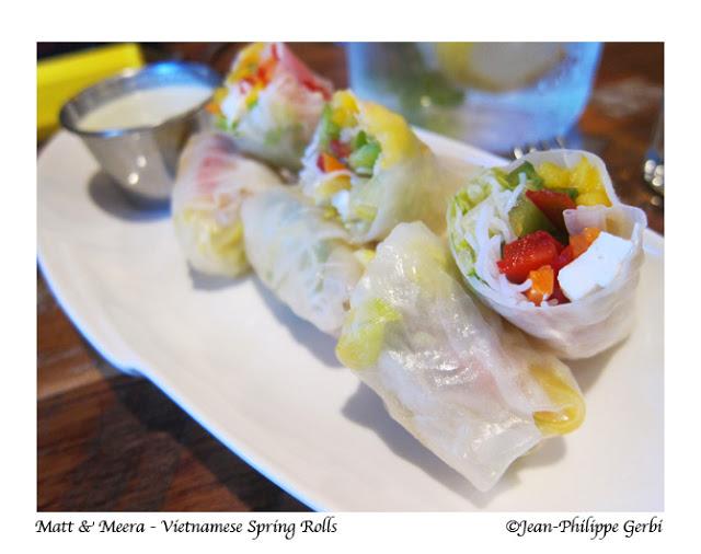 Vietnamese Spring Rolls at Matt and Meera in Hoboken, New Jersey NJ