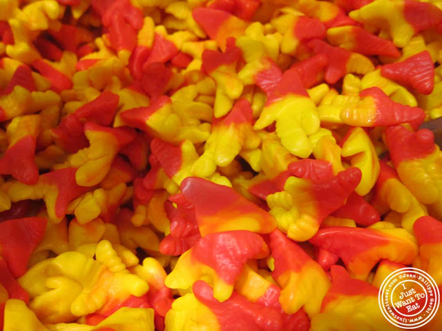 Gummy chicken feet at Dylan's Candy Bar in NYC, New York
