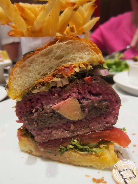 burger at DB Bistro Modern in NYC, New York