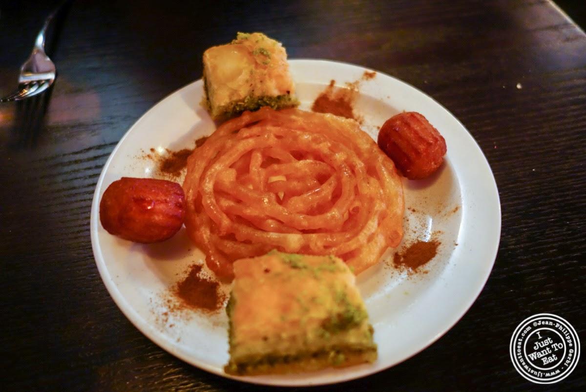dessert sampler at Parmys Persian Fusion in NYC, NY