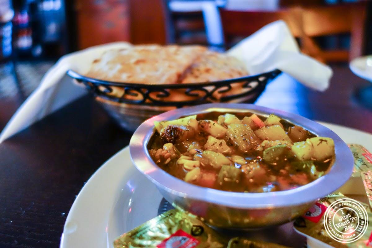 bread and Persian salsa at Parmys Persian Fusion in NYC, NY