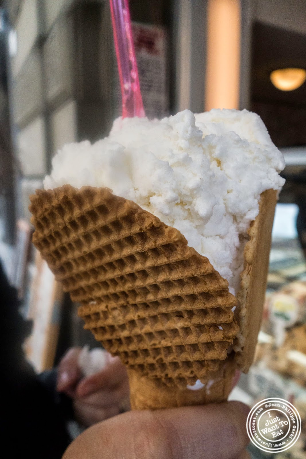 coconut gelato at Caffè Del Battistero in Florence, Italy