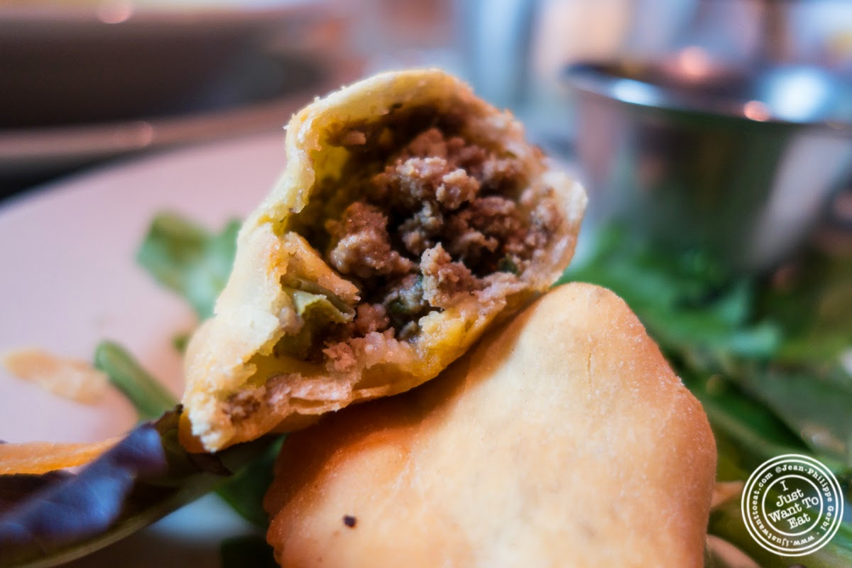 beef empanadas at Sounds Of Brazil SOB's in NY, New York